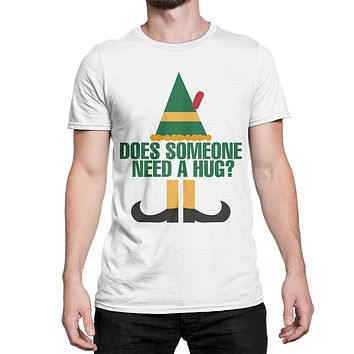 Buddy the Elf Shirt Does Someone Need a Hug T-Shirt Elf Movie Tee for Christmas