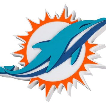 Miami Dolphins Super Fan 3D Wall Sign