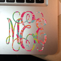 Lilly Pulitzer Inspired Patterned Monogram