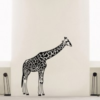 Wall Decal Vinyl Sticker Wild Animal Giraffe Decor Sb461