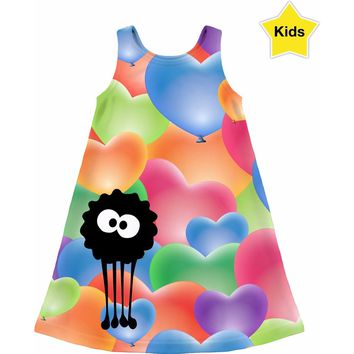 ROCD I Heart Balloons Girls Dress