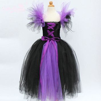 New Girls Halloween Dress Handmade Festival Party Children Costume Clothing For 2-12 Years Kids Birthday Princess Show Dresses