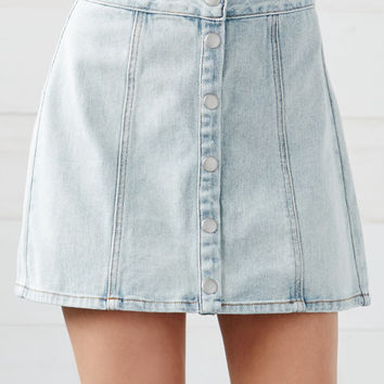 Bullhead Denim Co. Arizona Snap Front Denim Skirt at PacSun.com