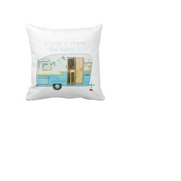 Camper Soft Square Zippered Bedding Pillow Case Cover