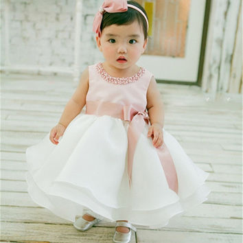 Infant Baby Girl Dress 2017 Summer Cute Princess Tutu Dress For Girl First Birthday Gift Christmas Dress For Baby Kids Clothing