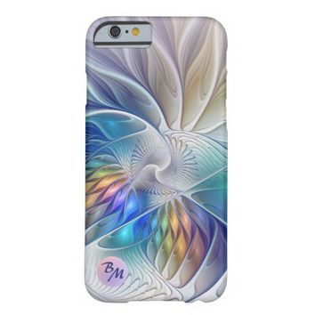 Floral Fantasy, abstract and modern, Monogram Barely There iPhone 6 Case