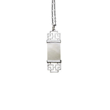 Mystical Pagoda Double Latticework Sterling Silver Necklace