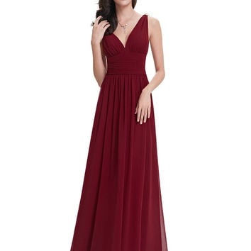 Bridesmaid Dresses Ever Pretty HE09016 Long Elegant Dresses New Arrival Empire Double V-neck Wedding Party Bridesmaid Dresses