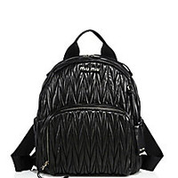 Miu Miu - Matelassé Leather Backpack - Saks Fifth Avenue Mobile