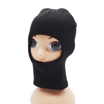 Sports Hat Cap trendy  New Children Kids Winter Face Mask Warm Sports Knitted Thermal Hat Boys Girl Windproof Winter Mask Hat Cycling Ski Cap Balaclava KO_16_1