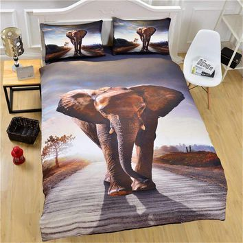 3D African Elephant Bedding Set
