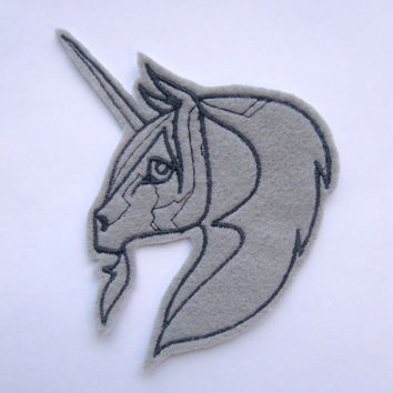 Iron On Patch Unicorn Embroidery  Felt Animal Applique