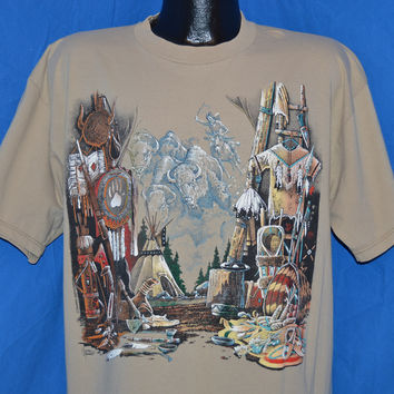 90s Native American Camp t-shirt Extra-Large