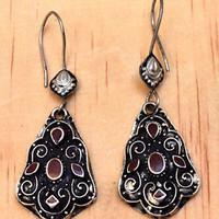 Afghan Kuchi Earrings Ethnic Hippie Tribal Gypsy Bohemian Carved Boho Jewelry