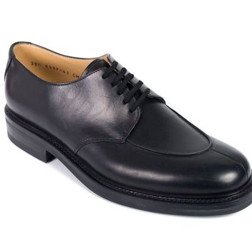 Church's Black Leather Lace-Up Charlotte Oxfords
