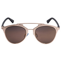 Golden Mirror Lens High Bar Retro Sunglasses