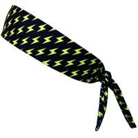 Lightning Bolts Yellow and Black Elastic Tie Headband