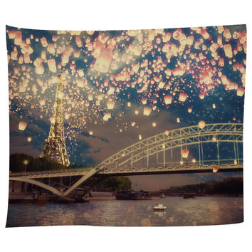 Lanterns Over Paris Tapestry