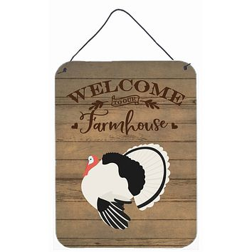 Royal Palm Turkey Welcome Wall or Door Hanging Prints CK6932DS1216