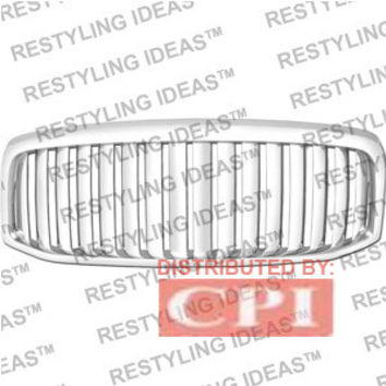 Dodge 2007-2008 Dodge Ram Chrome Vertical Wide Bar Abs Grille Performance