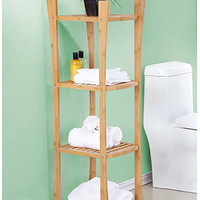 Bamboo 4-Tier Towel Shelf