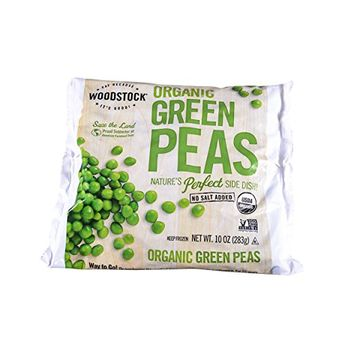 Woodstock, Organic Green Peas, 10 Ounce (Frozen)