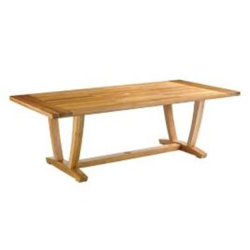 Avery Teak Top Dining Table   Frontgate