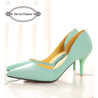 New Arrival White Mint Green Wedding Shoes Stiletto Red Bottom Pointed Toe Women Pumps For Women Prom High Heel Shoes
