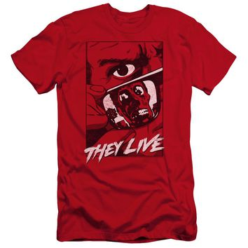 They Live - Graphic Poster Premium Canvas Adult Slim Fit 30/1