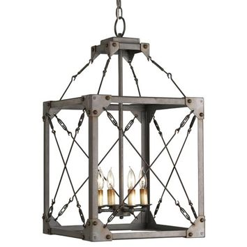 Currey & Company 9139 Salvage Hiroshi Gray Four-Light Lantern