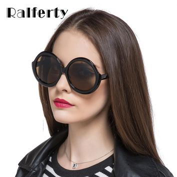 Ralferty Big Oversized Round Sunglasses Women Men UV400 Sun Glasses For Woman Unique Vintage Circle Eyeglasses Shades X1199