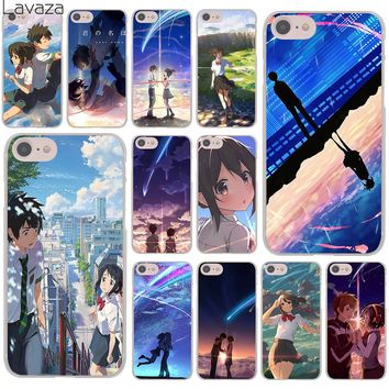 Lavaza Kiminonawa Your Name Japanese anime Hard Cover Case for Apple iPhone 8 7 6 6S Plus 5 5S SE 5C 4 4S X 10 Coque Shell