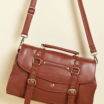 Buckle Down the Satchels Bag in Clay | Mod Retro Vintage Bags | ModCloth.com