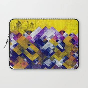 Abstract Forest Laptop Sleeve by Jeanette Rietz