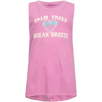 O'neill Palm Ocean Girls Muscle Tank Pink  In Sizes