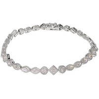 Sparkling CZ Tennis Bracelet with Vintage Style Edging - Like Love Buy