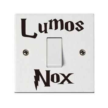 4 pcs Lumos NOx Christmas Switch Stickers Wall Stickers Home Decor Living Room Bathroom Wall Stickers Nightmare Before