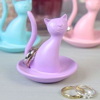 Coloured Cat Ring Holder