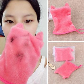 KESMALL 1PC Reusable Makeup Remover Glove Microfiber Facial Cloth Face Towel Cosmetics Removal Cleansing Tools 11.5*16cm CO936