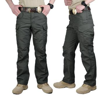 Men Cargo casual Pants Combat SWAT Army active Military Work Cotton male Trousers  War Game Tactical pants