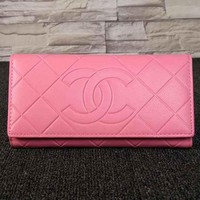Perfect CHANEL Women Fashion Leather Buckle Wallet Purse