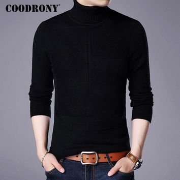 COODRONY Winter Warm Turtleneck Sweater Men Cashmere Wool Pullover Men 2017 New Mens Knitted Sweaters Casual Slim Fit Pull Homme