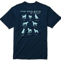 Southern Proper Mens Dog Days T-Shirt in Navy