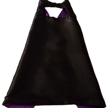 Plain Black and Purple Reversible Superhero Cape