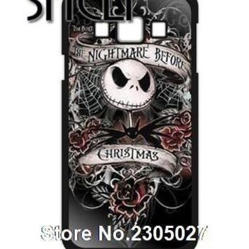 SHELI Nightmare Before Christmas Jack Skellington cellphone Case Cover for iphone 5s 5c SE 6 6s 6plus 7 7plus Samsung galaxy