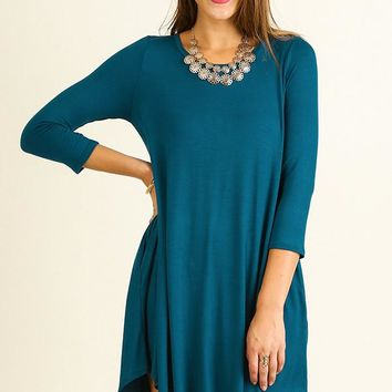 Turning Heads Teal Dress