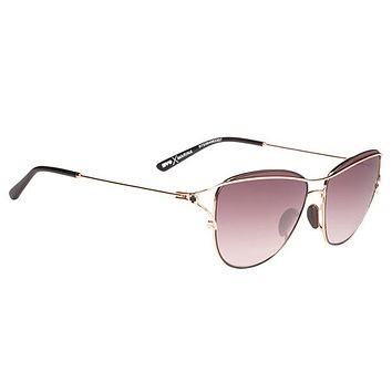 Spy - Marina Rose Gold W/ Black Sunglasses, Happy Merlot Fade Lenses