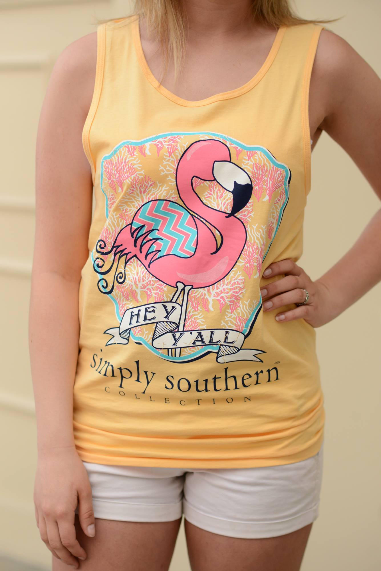2a7f0daf57b2dc Simply Southern Flamingo Tank from Pretty Please on Broad
