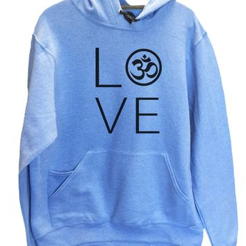 UNISEX HOODIE - Heart I Love Ohm - FUNNY MENS AND WOMENS HOODED SWEATSHIRTS - 2184