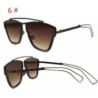 DIOR New fashion colorful metal two color sunglasses couple more styles glasses